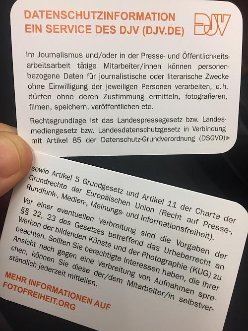 Datenschutzhinweis In Visitenkarten Format Fotofreiheit