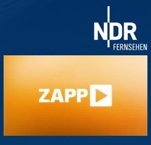 Logo der Sendung ZAPP und des NDR